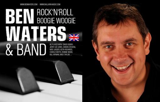 Ben Waters & Band poster design: Dirk Ballarin Music