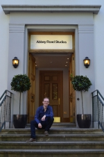 Dirk Ballarin sittin' in front of the Abbey Road Studios in London, June 2015