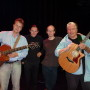 David Knopfler, Jens Gloede, Dirk Ballarin und Harry Bogdanovs im Theater im Fischereihaven (Tif) in Bremerhaven.